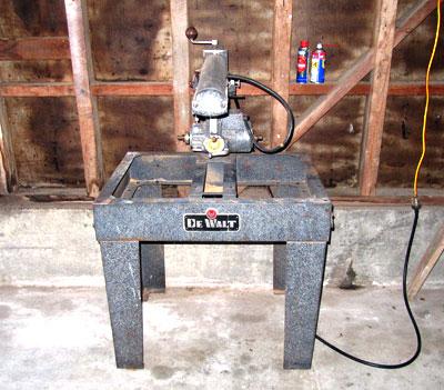 Building a Mr Sawdust Table for a DeWalt Radial Arm Saw ...