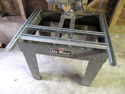 Building A Mr Sawdust Table For A Dewalt Radial Arm Saw